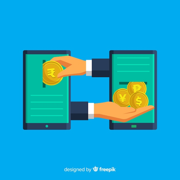 Indian rupee exchange Free Vector
