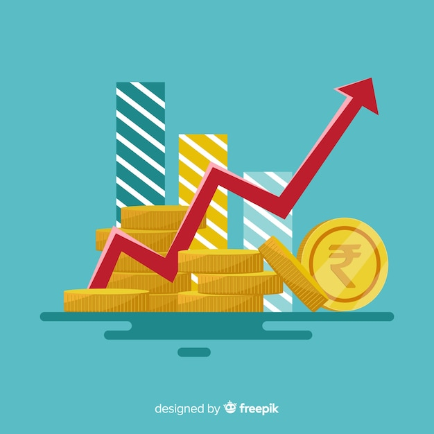 Indian rupee investment concept Premium Vector