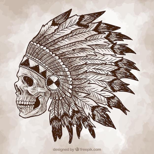 Indian Skull Sketch