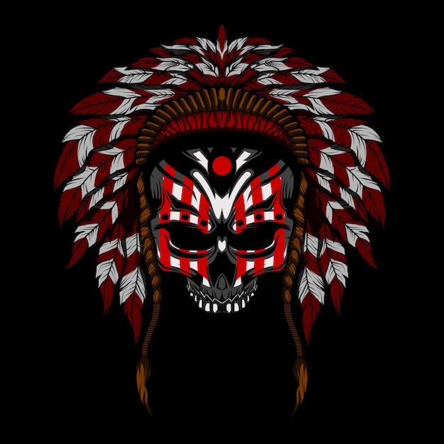 Indian skull vector illustration Premium Vector