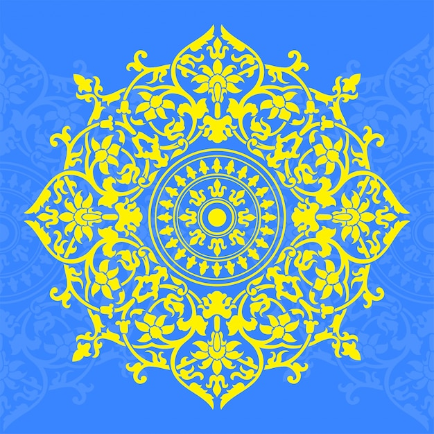 Indian style pattern Premium Vector