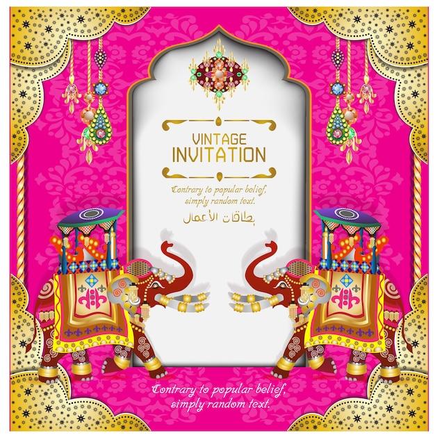 Indian Wedding Cards Vector
