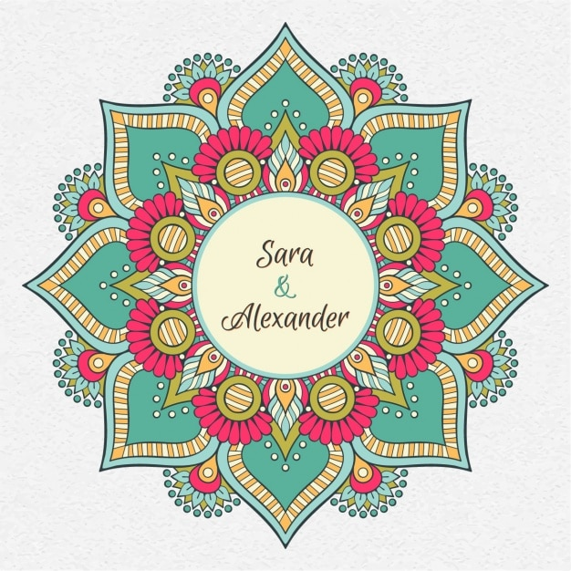 Indian Wedding Invitation Vector Free Download