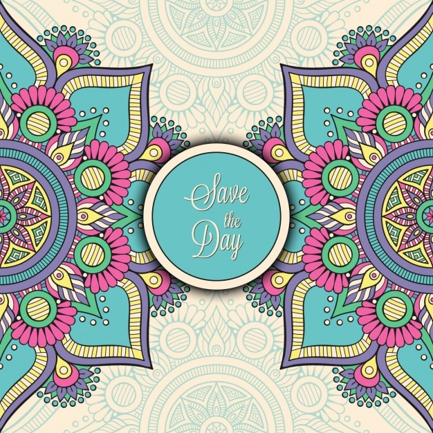 Indian wedding invitation Vector | Free Download