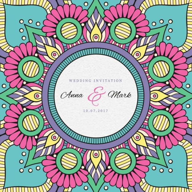 indian wedding invitation free vector - Indian Wedding Invitation