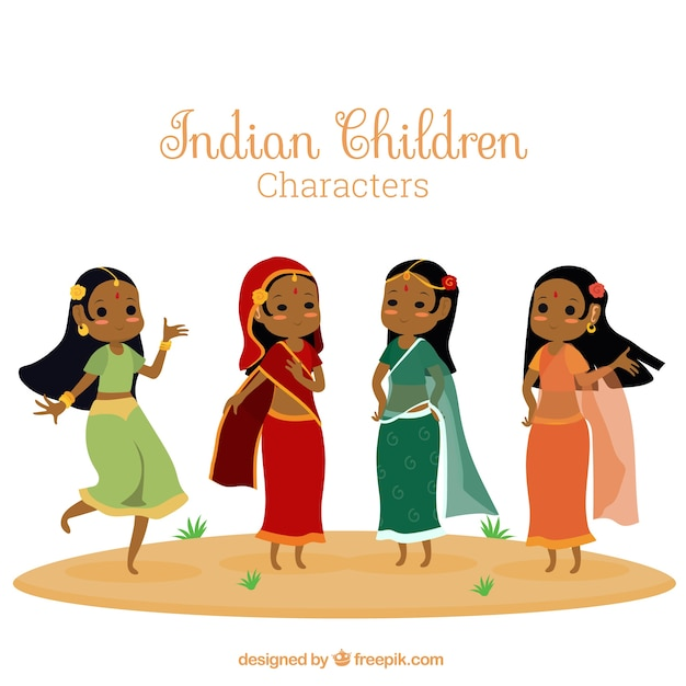 Crowd Of Indian Women Vector Avatars Stock Vector: Indian Women Illustration Vector