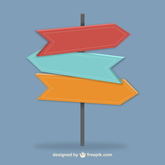 Indicator signs Free Vector