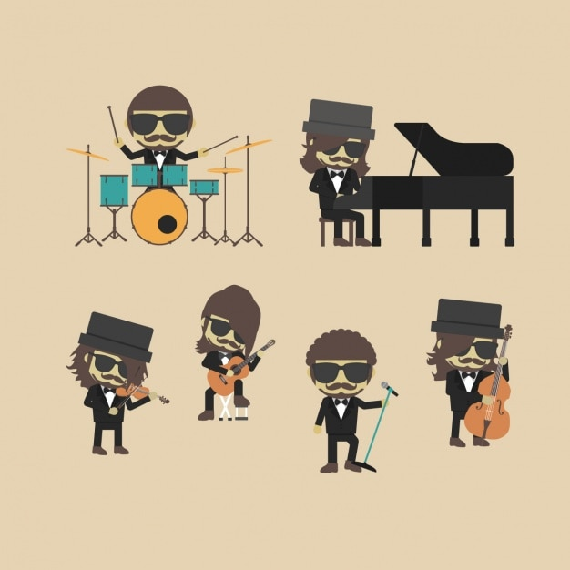 Indie band design Free Vector