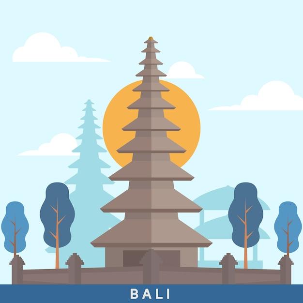 Indonesia bali landmark Premium Vector