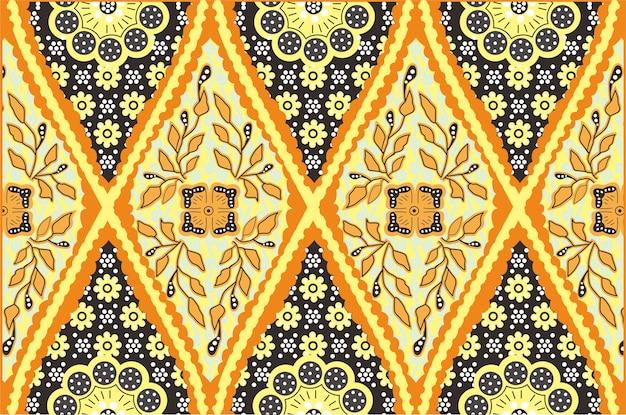 Indonesia batik  design Premium Vector