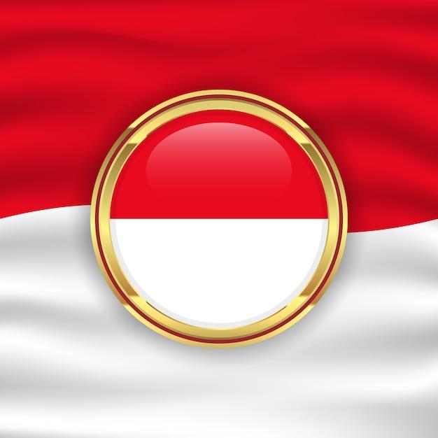 インドネシア独立記念日のイラストのインドネシア国旗背景コンセプト Premiumベクター