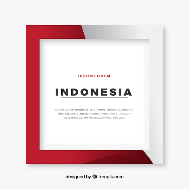 Indonesia frame Free Vector
