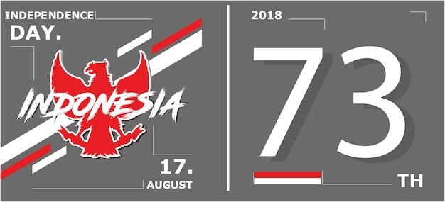 Индонезия день независимости Premium векторы