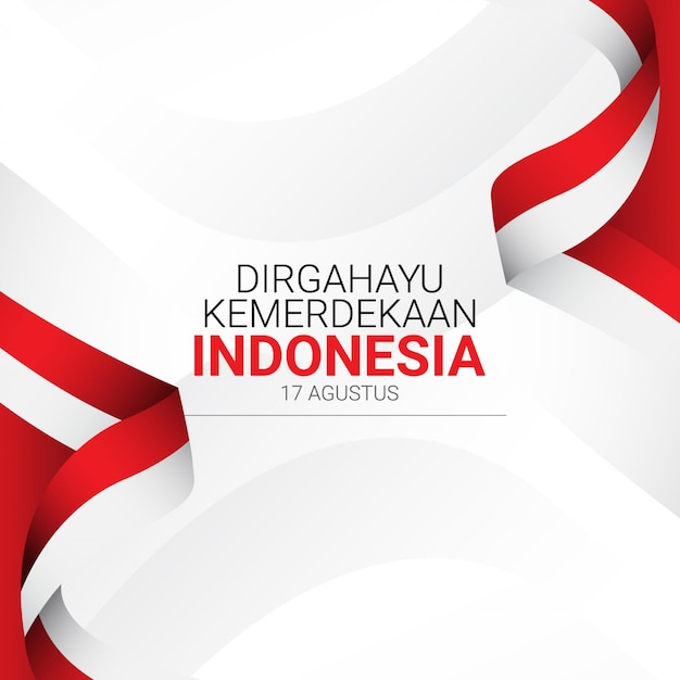 Indonesia independence day   template. Premium Vector