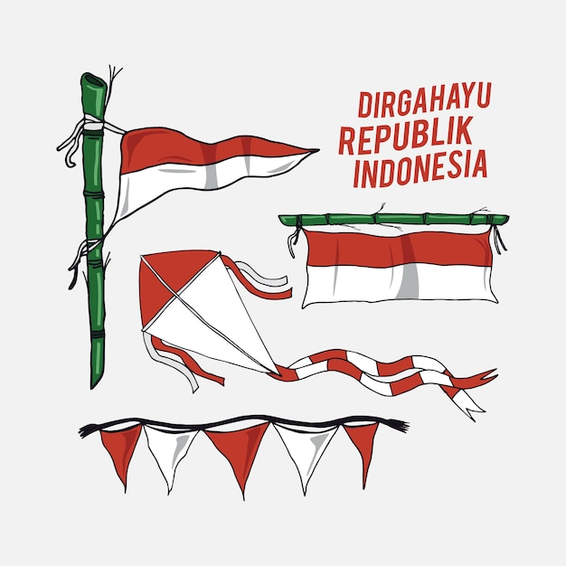 Indonesia independence day vector Premium Vector