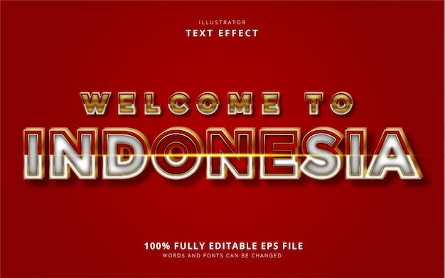Текстовый эффект индонезии Premium векторы