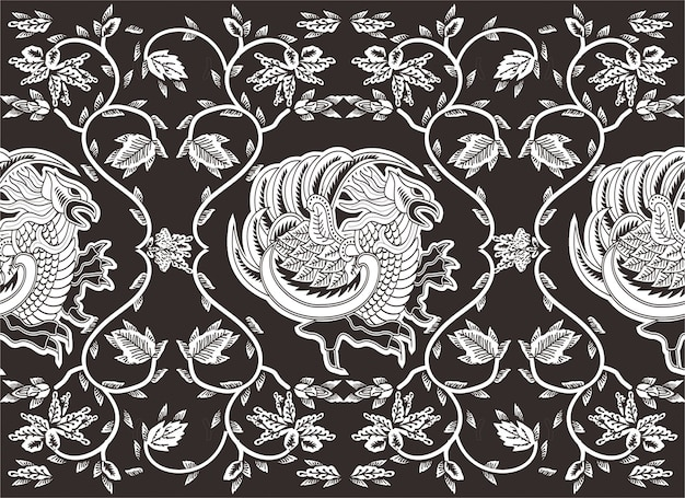 Indonesian batik motif,  special designs that are patterned Premium Vector