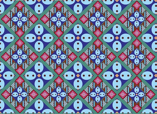 Indonesian batik motif Premium Vector