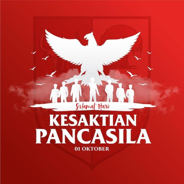 Indonesian holiday pancasila day illustration.translation: Premium Vector