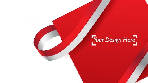 Indonesian patriotic background template with empty space for text, design, holidays, independence day. Premium Vector