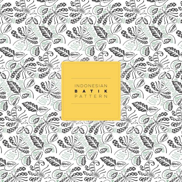 Indonesian Walang Batik Pattern Free Vector Vector | Premium Download