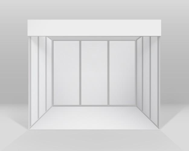 屋内貿易展示ブースプレゼンテーション用標準スタンド Premiumベクター