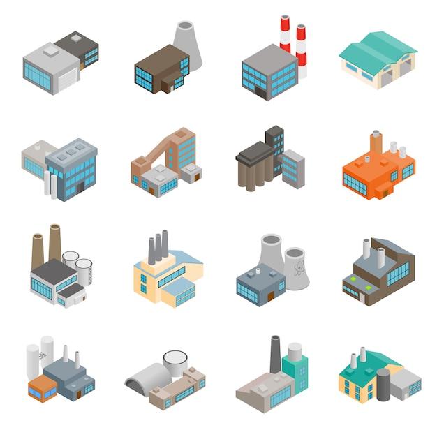 Industrial building factory Premium Vector