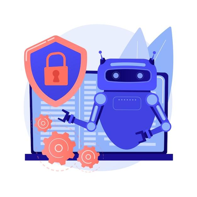 Illustrazione di concetto astratto di sicurezza informatica industriale Vettore gratuito