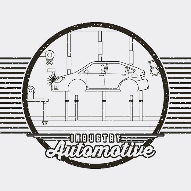 Industry automotive auto service logo Free Vector