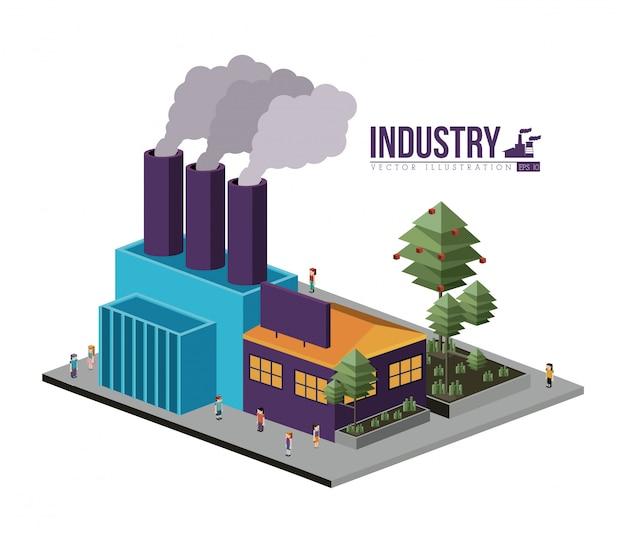 Industry design Premium Vector