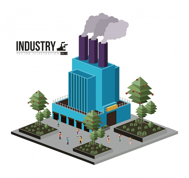 Industry design Premium Vector