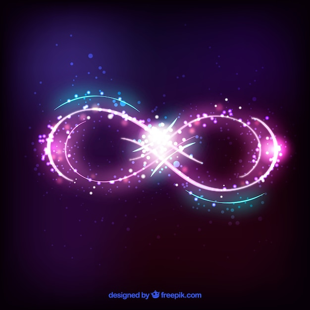Infinite symbol with shiny effect Free Vector