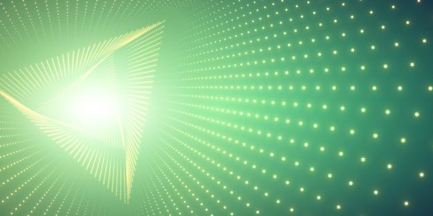 Tunnel e luce a triangolo infinito Vettore gratuito