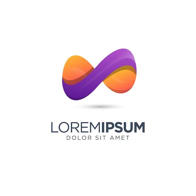 Infinity colorful logo design Premium Vector