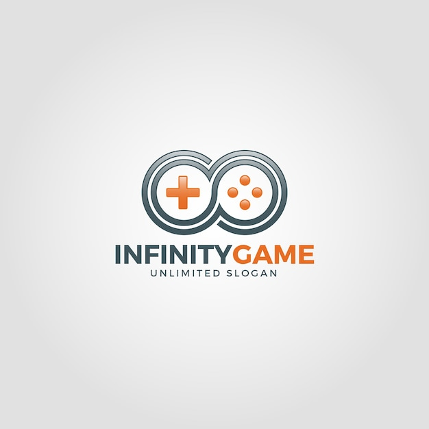 Infinity game logo template Premium Vector