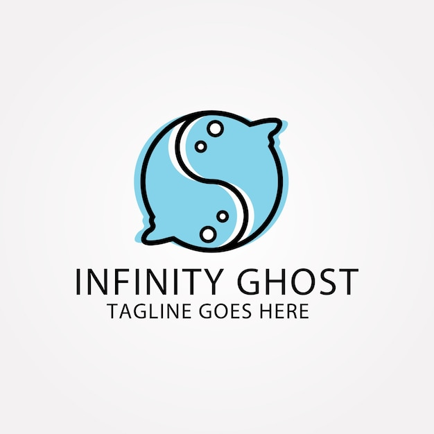Infinity ghost background Free Vector