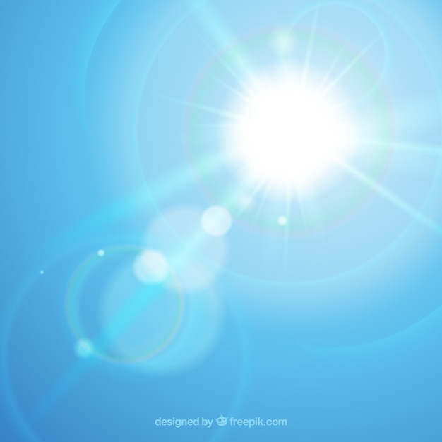 Infinity lens flare symbol with sky Free Vector