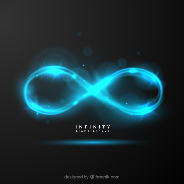 Infinity lens flare symbol Free Vector