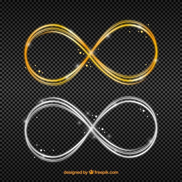 Simbolo bagliore lente infinito Vettore gratuito