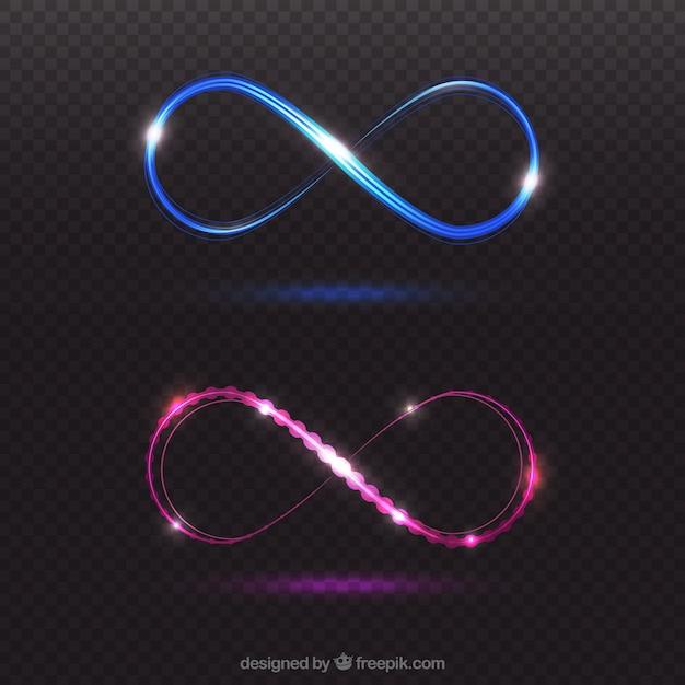Infinity lens flare symbol Free Vector