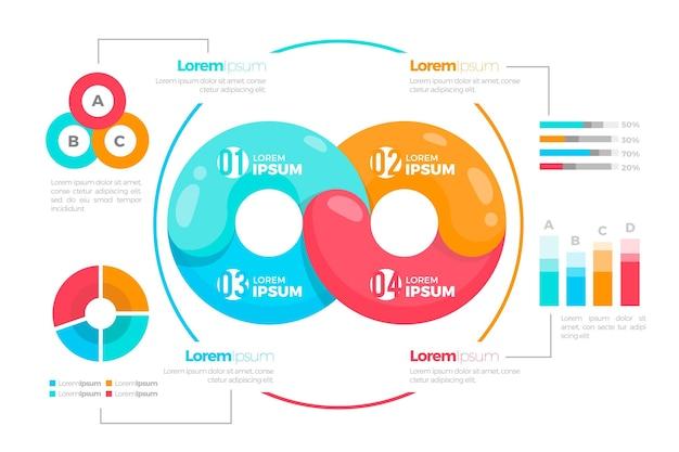 Infinity loop infographic Free Vector