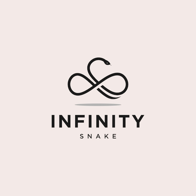Infinity snake logo design illustration Premium Vector