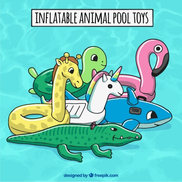 Inflatable Animal Pool Toys Free Vector