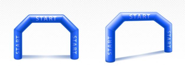 Arco gonfiabile per pubblicità, gare ed eventi Vettore gratuito