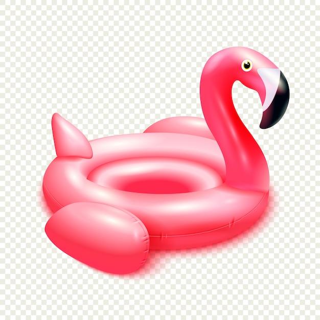 柔軟な弾性紫鳥インナーチューブのイメージとインフレータブルゴム製おもちゃフラミンゴスイミングリング構成 無料ベクター