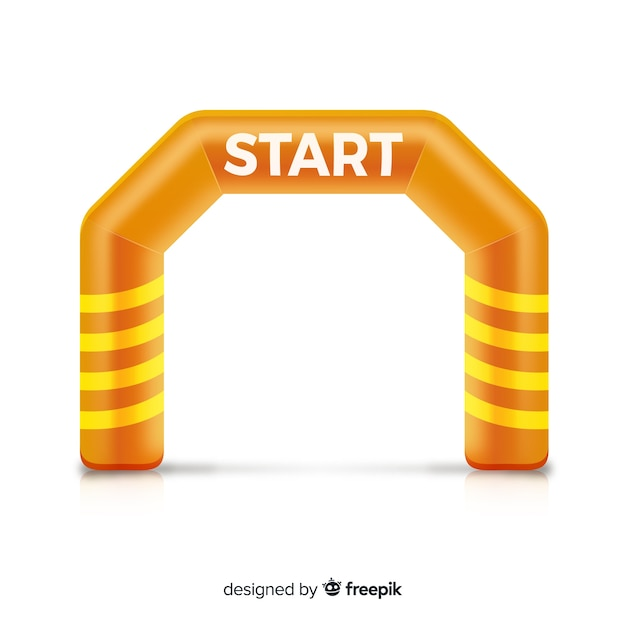 Inflatable start line arch with realistic design Free Vector