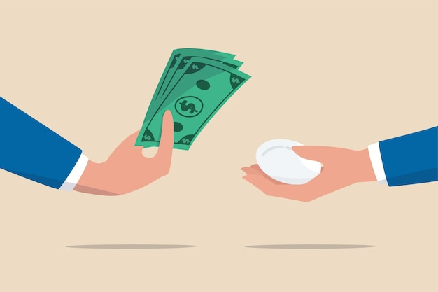 インフレ、消費財価格を購入するための金銭的価値の削減、または食料品の供給コストのより高い概念 Premiumベクター