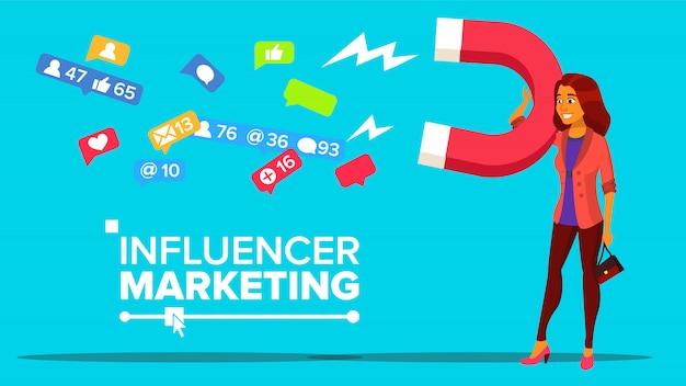 Premium Vector   Influencer digital marketing web banner