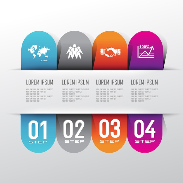 Info graphic background with information step Premium Vector
