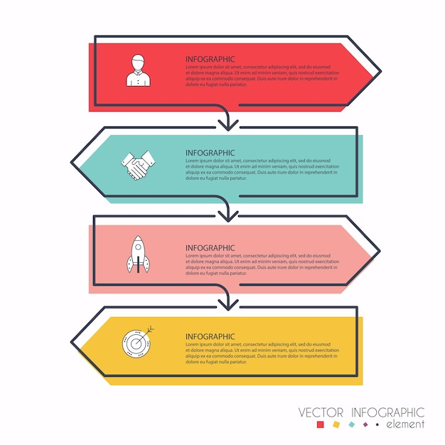 Info graphics for your business presentations. can be used for website layout, numbered banners, diagram, horizontal cutout lines, web . Premium Vector